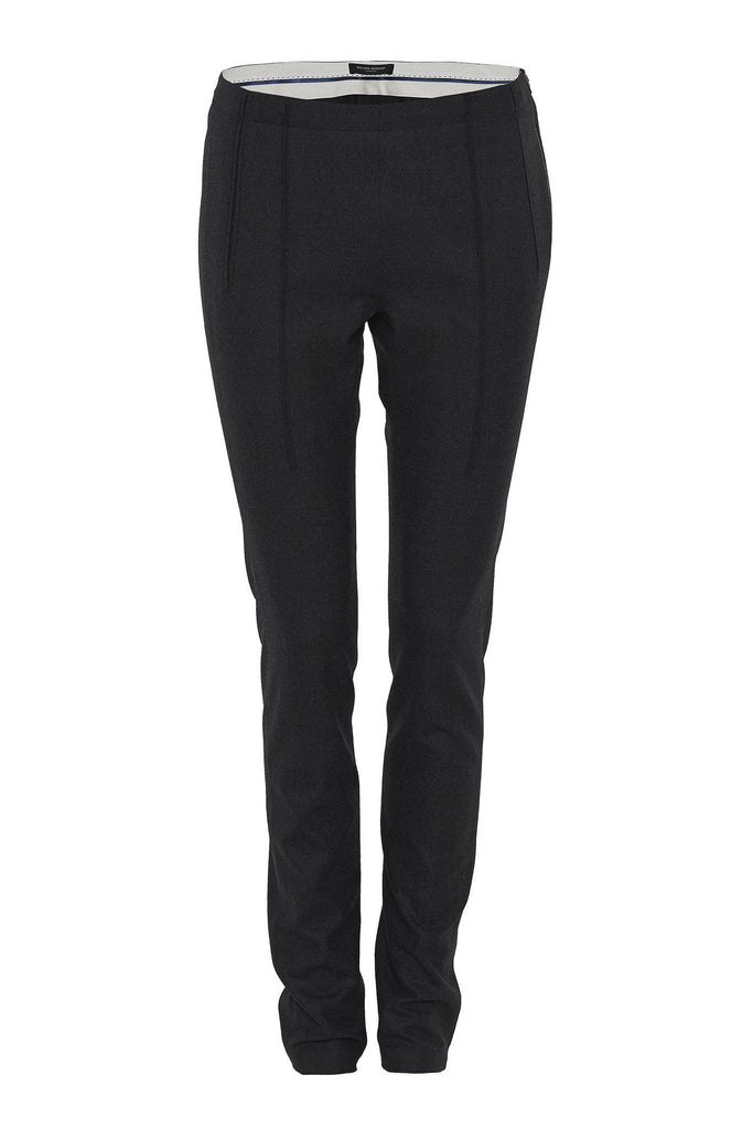 Charcoal cropped tailored trousers branded Bruuns Bazaar at Peek Boutique