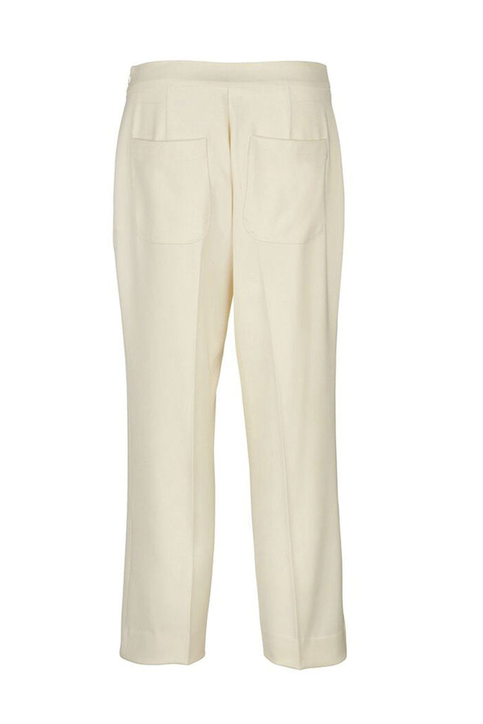 Cream tailored culottes branded Samsoe & Samsoe at Peek Boutique