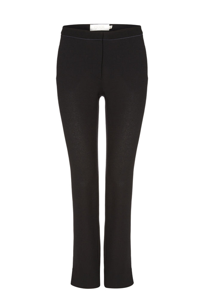 100% Wool women's black pencil trousers branded Goat at Peek Boutique