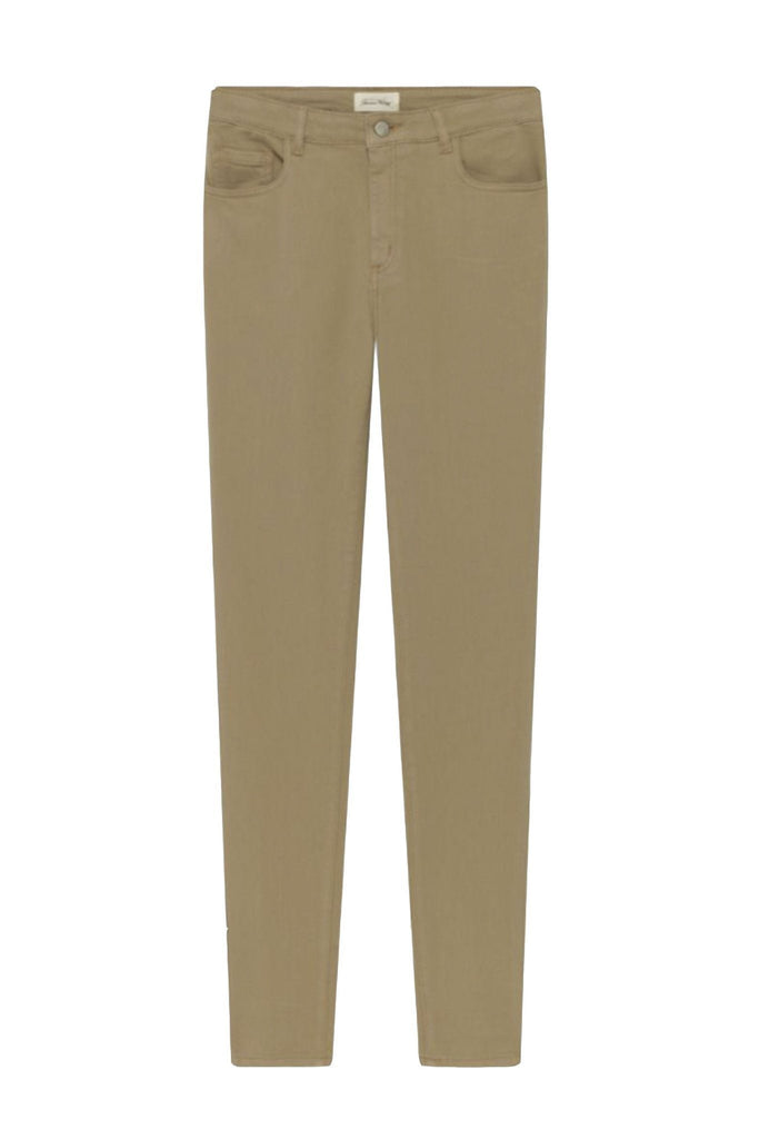 American vintage women's beige trousers at Peek Boutique