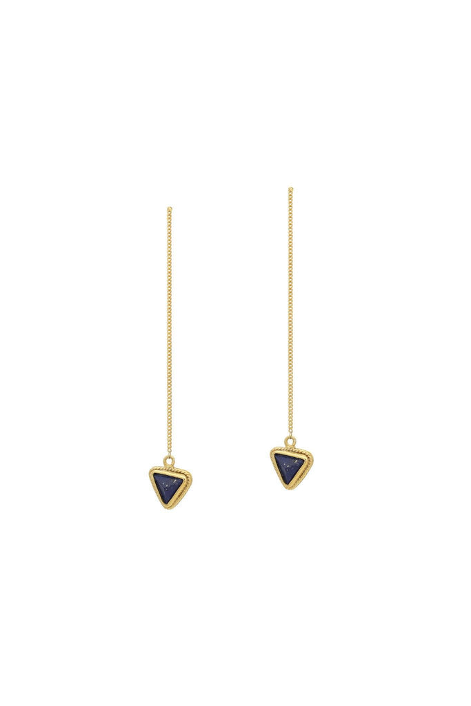 Stone triangle earrings