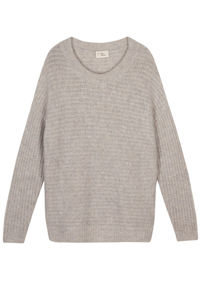Wmen's beige 100% mohair warm jumper branded My Sunday Morning at Peek Boutique