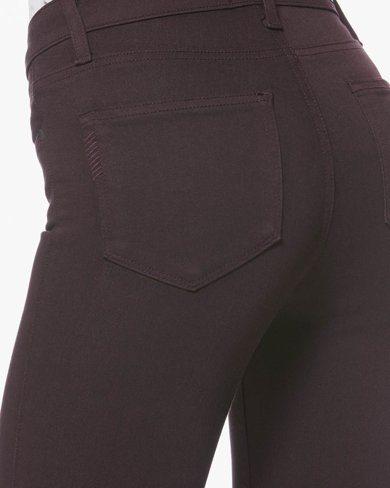 Verdugo, Paige's best-selling style, features an ultra skinny mid-rise fit. Made with their signature TRANSCEND fiber technology, these jeans provide supreme softness, stretch, and flexibility. This pair is highlighted in a deep wine colour detailed with tonal stitching and antique silver hardware for a clean and tailored finish.