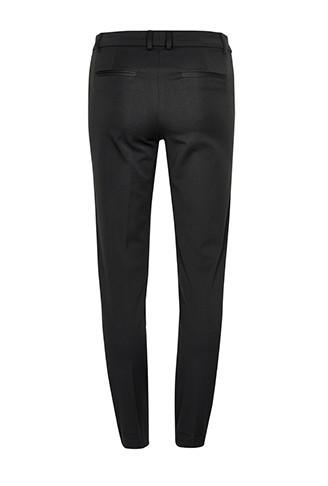 Women's office ready tailored, smart black trousers branded Gestuz at Peek Boutique