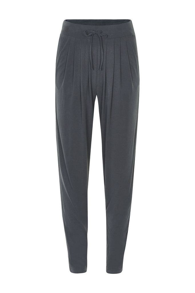 Women's relaxed charcoal trousers by Gestuz at Peek Boutique