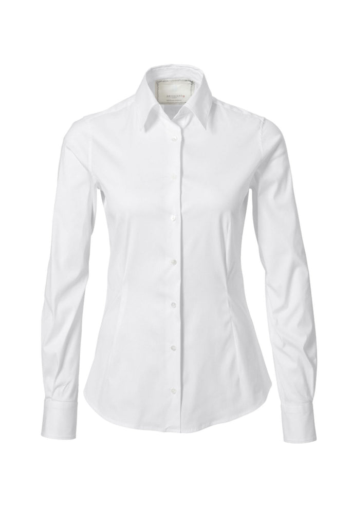 Women's Italian formal white shirt by Artigiano at Peek Boutique