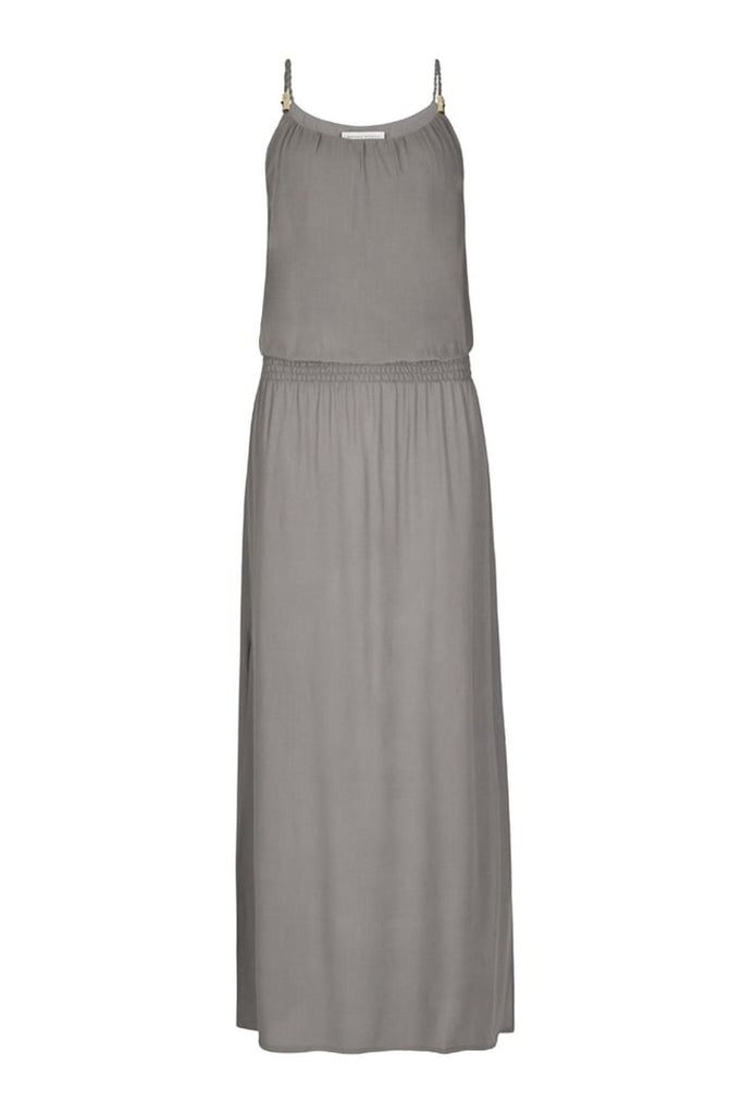 Grey drop waist maxi dress