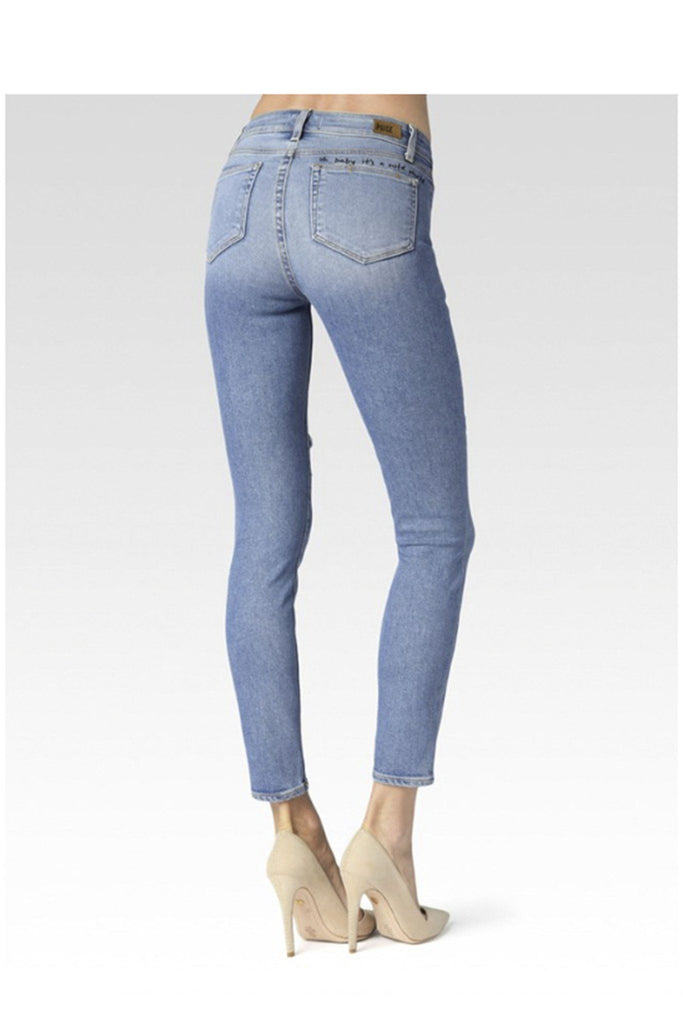 Hoxton ankle caprice embroidery jeans