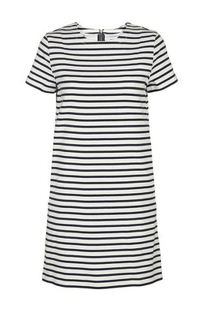 Ermine stripe dress