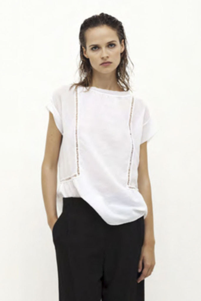 White crepe top
