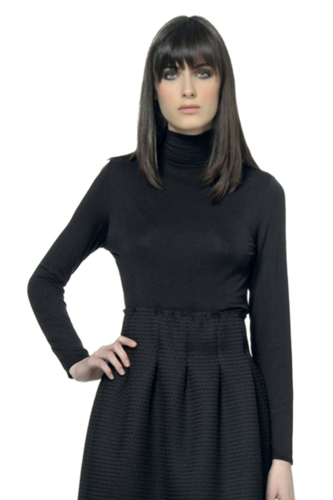 Navy blue rollneck long sleeve sweater by Alpha Studio at Peek Boutique
