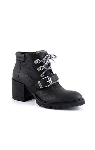 Lace Up Ankle Biker Boots