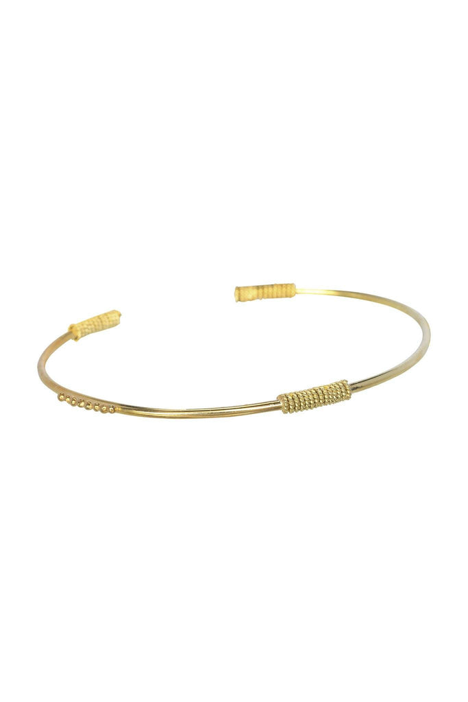 Twist dot bangle
