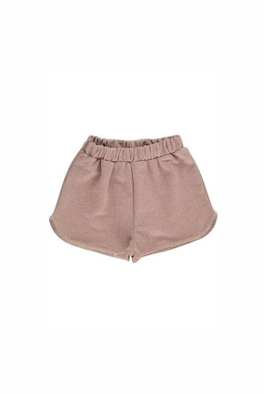 Young girls glitter pink shorts with stretch waistband, branded Gro Company available at peek Boutique