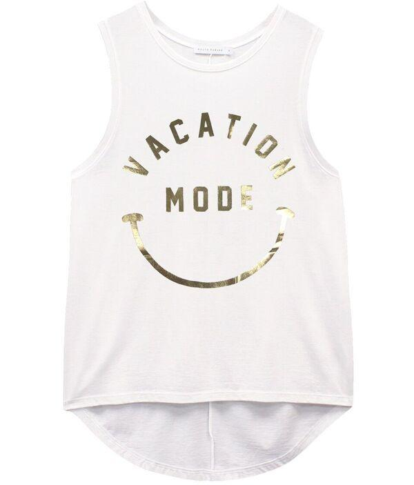 Vacation Mode Sleeveless Vest