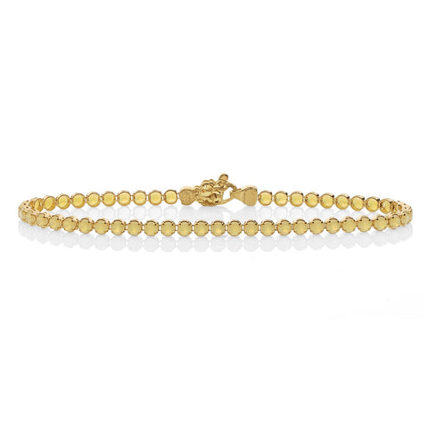 Venere Synthetic Yellow Opal Tennis Bracelet