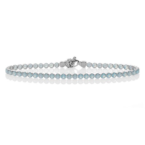 Venere Synthetic Blue Opal Tennis Bracelet