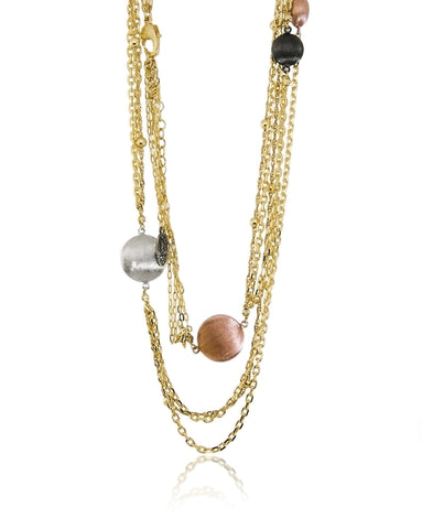 Seta Four-tone Necklace - Bronze with Ruthenium