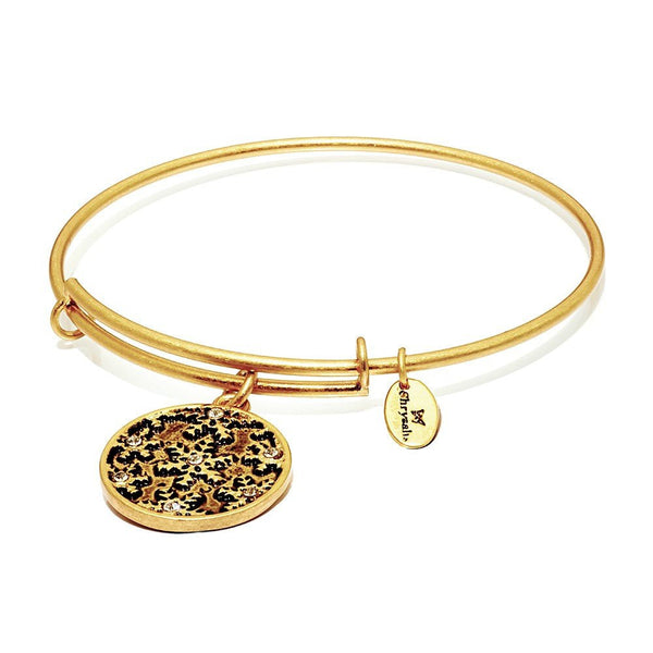 Wonderland Snowflake Gold Plated Expandable Bangle