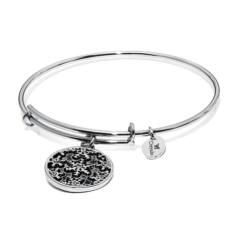 Wonderland Snowflake Rhodium Plated Expandable Bangle