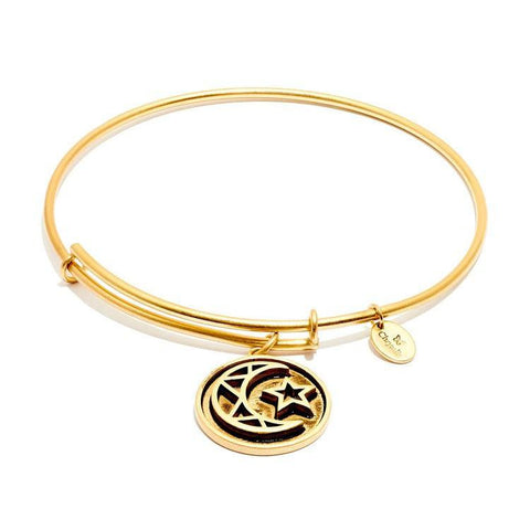 Talisman Crescent Gold Plated Expandable Bangle