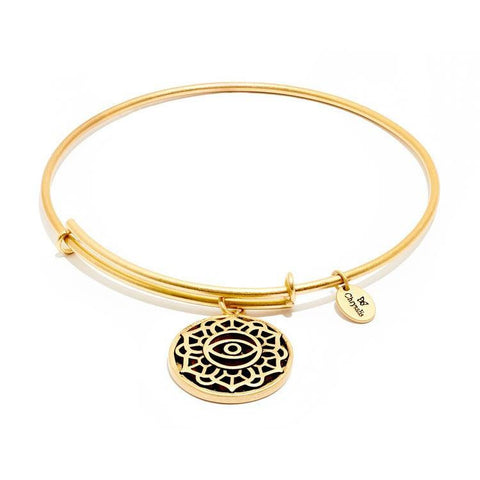 Talisman Eye Gold Plated Expandable Bangle
