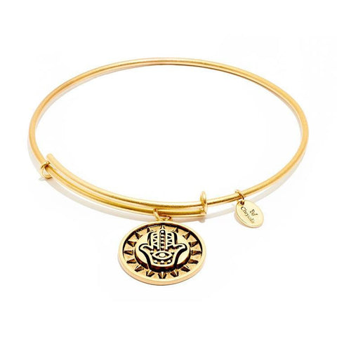 Talisman Hamsa Hand Gold Plated Expandable Bangle