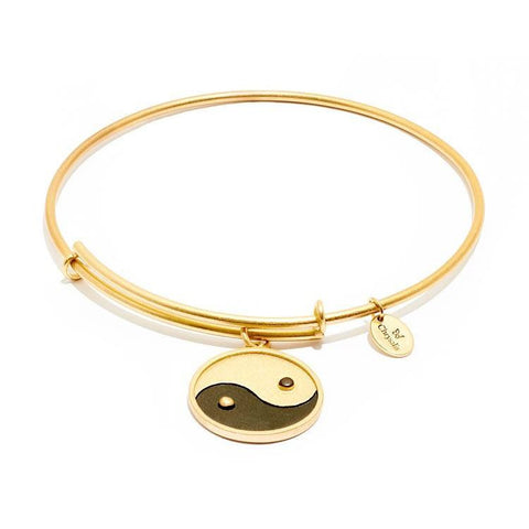 Yin Yang Gold Plate Expandable Bangle