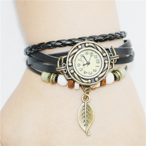 Womens Retro Leather Bracelet - J20Style - 6