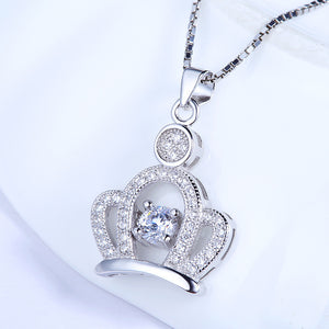 High Quality Silver Crown Pendant