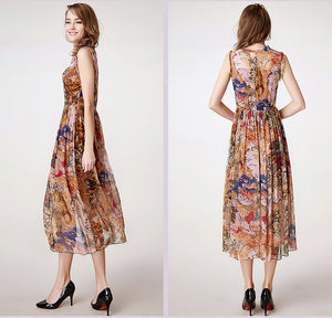 100% Silkworm New Printing Slim Maxi Dress