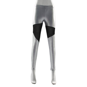 PU Leather High Waist Patchwork Leggings - J20Style - 3