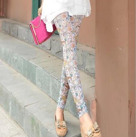 High Quality Printed Skinny Pants - J20Style - 1