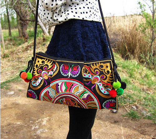 Ethnic Embroidered Handmade Shoulder Bag - J20Style - 5