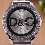 Over Drilling Round Shape Metal Dial Watch - J20Style - 1