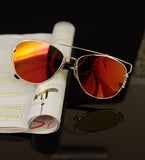 Luxury Metal Reflective Sun Glasses - J20Style - 8