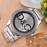 Over Drilling Round Shape Metal Dial Watch - J20Style - 4