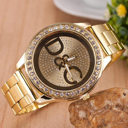 Over Drilling Round Shape Metal Dial Watch - J20Style - 2