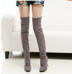Big Size Women's Folding Over the Knee Boots
