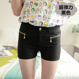 Double Zipper Slim Candy Color Short - J20Style - 5