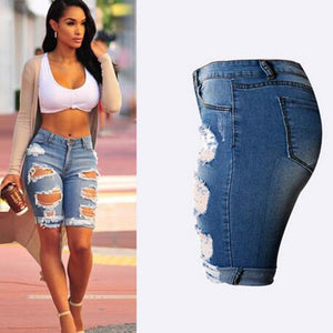 Half Ripped High Waist Jeans - J20Style - 1