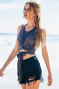 Summer Boho Sleeveless Crop Top - J20Style - 4