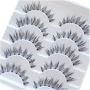 5 Pairs Makeup Handmade Natural Long False Eyelashes