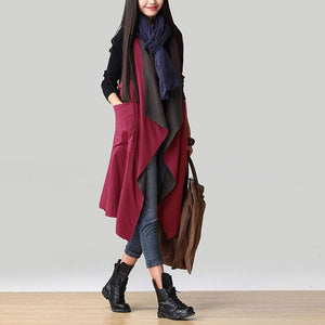 Casual Sleeveless Waterfall Trench - J20Style - 5