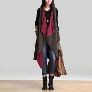 Casual Sleeveless Waterfall Trench - J20Style - 2