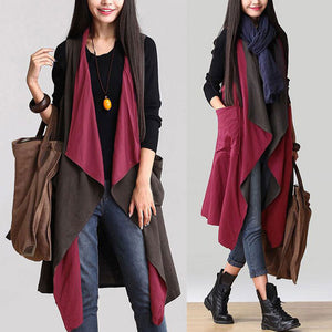 Casual Sleeveless Waterfall Trench - J20Style - 6