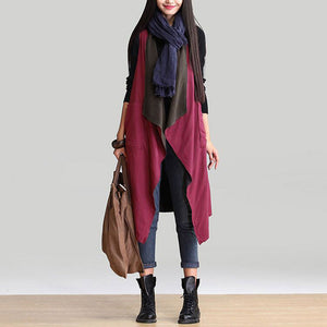 Casual Sleeveless Waterfall Trench - J20Style - 4