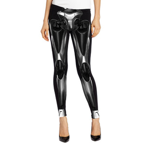 3D Printed High Waist Leggings - J20Style - 28
