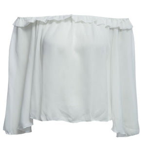 Summer Flare Sleeve Slash Blouse - J20Style - 4