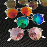 New Round Candy Color Transparent Frame Sun glasses
